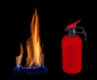 Extinguishing fire Stock Image