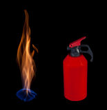 Extinguishing fire Royalty Free Stock Photos