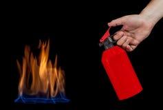 Extinguishing fire Royalty Free Stock Photo