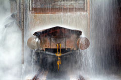 Extinguishing wagon with red-hot coke Stock Photography