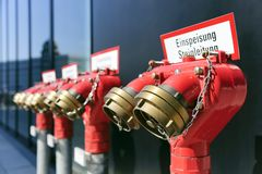 Extinguishing water connections Stock Images