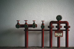 Extinguishing water pipes Royalty Free Stock Photo