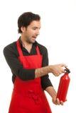 Extintor de incêndio do cozinheiro chefe Foto de Stock