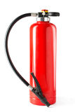 Extintor de incêndio no fundo branco Fotografia de Stock Royalty Free