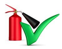 Extintor de incêndio no fundo branco Imagens de Stock Royalty Free