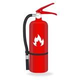Extintor de incêndio no fundo branco Ilustração do vetor Fotografia de Stock Royalty Free