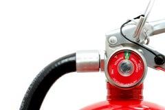Extintor de incêndio sobre o branco fotografia de stock