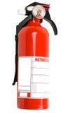 Extintor de incêndio vermelho isolado Fotografia de Stock