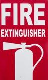 Extintor dentro do sinal Imagem de Stock Royalty Free