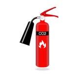 Extintor do dióxido de carbono isolado no fundo branco Ilustração do vetor Fotos de Stock Royalty Free