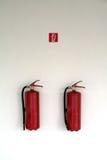 Extintores Fotografia de Stock