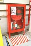 Extintores e alarme de incêndio Foto de Stock