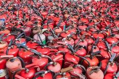 Extintores velhos e não utilizados Fotografia de Stock Royalty Free