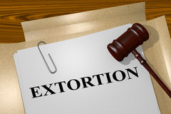 Extortion - legal concept Stock Photo
