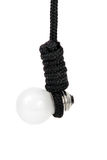 Extrémité d'ampoule sur le blanc Photos libres de droits