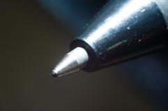Extrémité d'un stylo à bille Photographie stock libre de droits