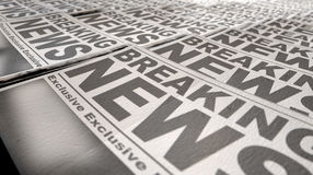 Extrémité de course de presse de journal image libre de droits