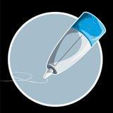 Extrémité de crayon lecteur d'écriture   Photographie stock