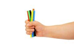 extrémité de crayons lecteurs de feutre de couleur Images stock