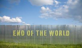 Extrémité de la frontière de sécurité du monde Photographie stock libre de droits