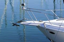 Extrémité de proue d'un bateau Photo stock