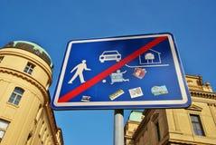 Extrémité de rue vivante Photo stock