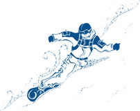 Extrémité de surf des neiges Photographie stock
