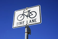 Extrémité de voie de vélo Photo stock