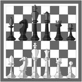 extrémité du compagnon de contrôle de jeu, noir et blanc monochrome avec le point culminant gibier Ensemble d'icône illustration libre de droits