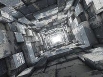Extrémité du tunnel Photo libre de droits