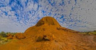Extrémité nord d'Uluru photo libre de droits