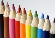 Extrémités colorées de crayon Images libres de droits