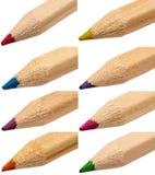 Extrémités colorées de crayons Image stock