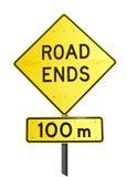Extrémités de route Photographie stock libre de droits