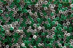 Extrémités de tube de Flourecent Photo libre de droits