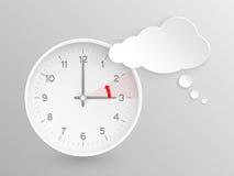 Extrémités européennes d'heure d'été, horloge de vecteur pour remettre à zéro l'heure Image libre de droits