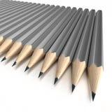 Extrémités grises de crayon Photos stock