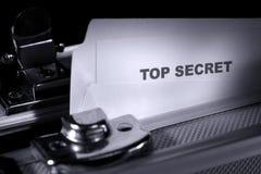 Extrêmement secret Photos libres de droits