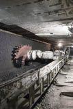 Extração de carvão: Máquina escavadora da mina de carvão Fotografia de Stock Royalty Free