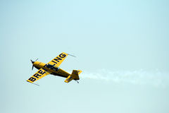 Extra 300 Breitling plane. At Roma International Air Show 2012 Royalty Free Stock Photo