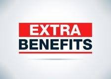 Extra Benefits Abstract Flat Background Design Illustration. Extra Benefits Isolated on Abstract Flat Background Design Illustration royalty free illustration