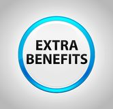 Extra Benefits Round Blue Push Button. Extra Benefits Isolated on Round Blue Push Button royalty free illustration