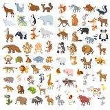 Extra Big Animals And Birds Set Royalty Free Stock Photo