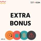 Extra bonus - button Stock Photo