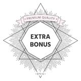 Extra bonus - button. Element for your design . Signs and symbols - graphic elements for your design vector illustration