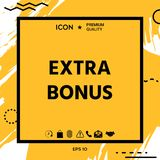Extra bonus - button Stock Photography