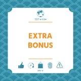 Extra bonus - button Stock Photos