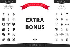 Extra bonus - button. Element for your design vector illustration