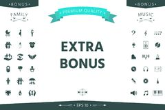 Extra bonus - button. Element for your design royalty free illustration