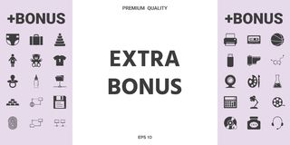 Extra bonus - button - graphic elements for your design. Extra bonus - button. Element for your design royalty free illustration
